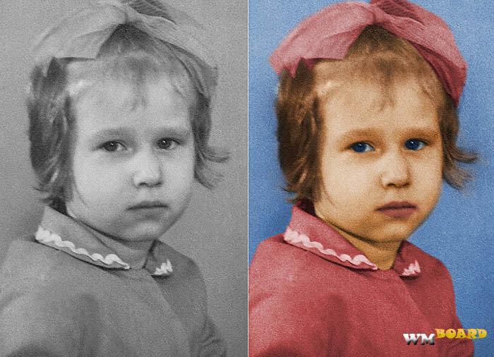 Как сделать черно-белое фото цветным онлайн